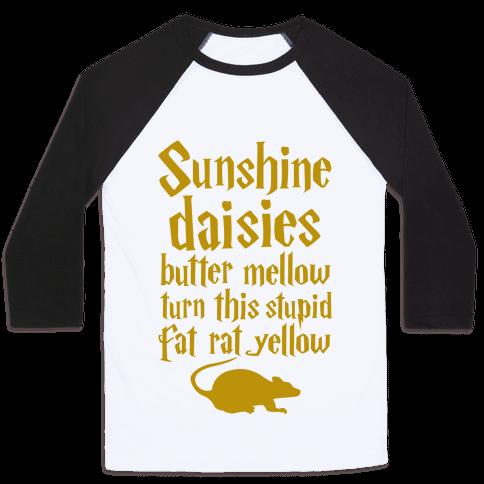 Sunshine, Daisies, Butter Mellow Baseball Tee