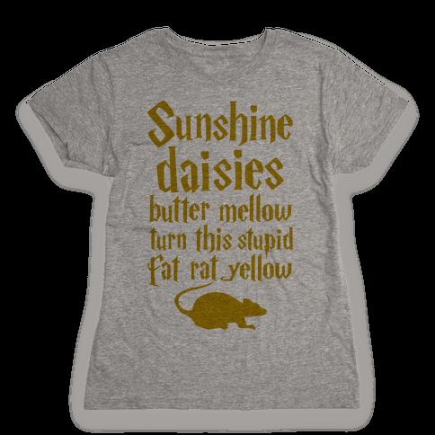 Sunshine, Daisies, Butter Mellow Womens T-Shirt