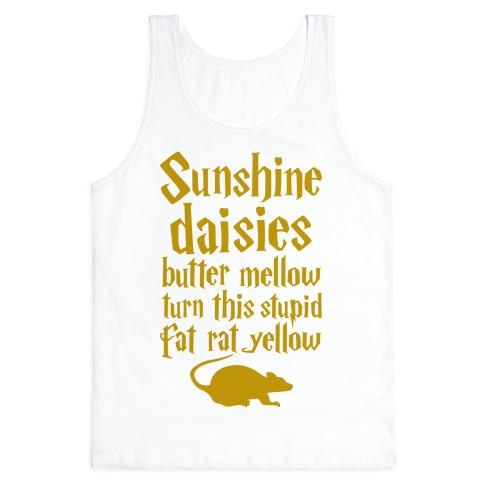 Sunshine, Daisies, Butter Mellow Tank Top