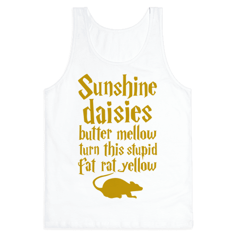 Sunshine, Daisies, Butter Mellow Tank Top
