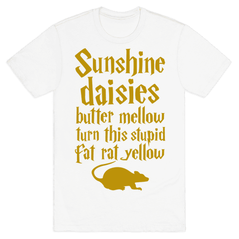 Sunshine, Daisies, Butter Mellow Mens T-Shirt