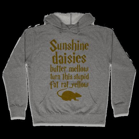 Sunshine, Daisies, Butter Mellow Hooded Sweatshirt