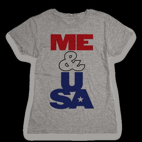 Me & USA Womens T-Shirt