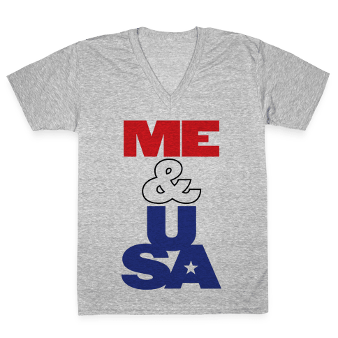 Me & USA V-Neck Tee Shirt