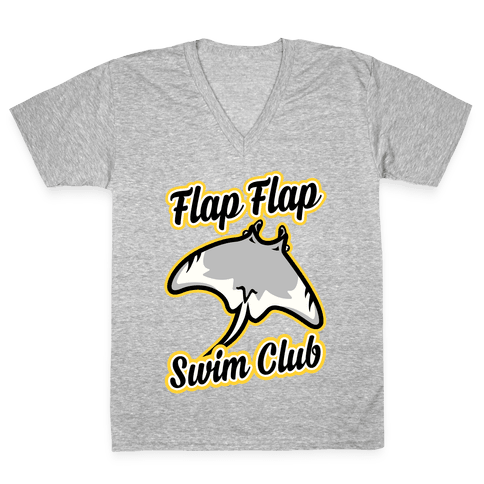 Flap Flap Swim Club V-Neck Tee Shirt