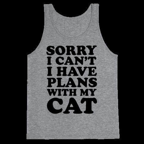 Cat Plans Tank Top