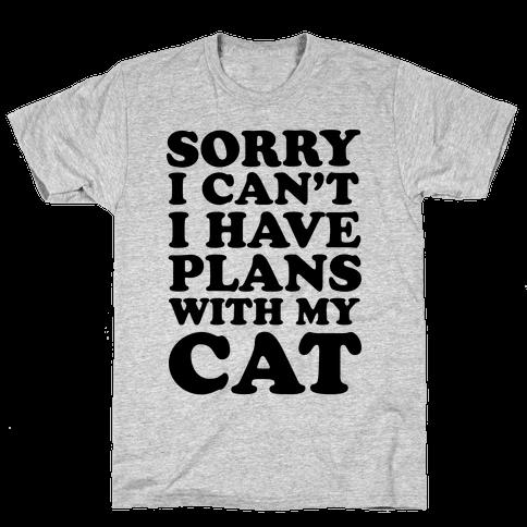 Cat Plans Mens T-Shirt