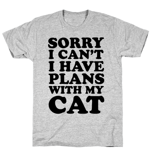 Cat Plans Mens T-Shirt