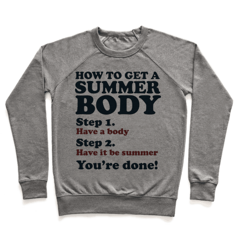 How to Get a Summer Body Pullover