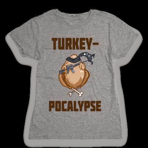 TurkeyPocalypse (dark) Womens T-Shirt
