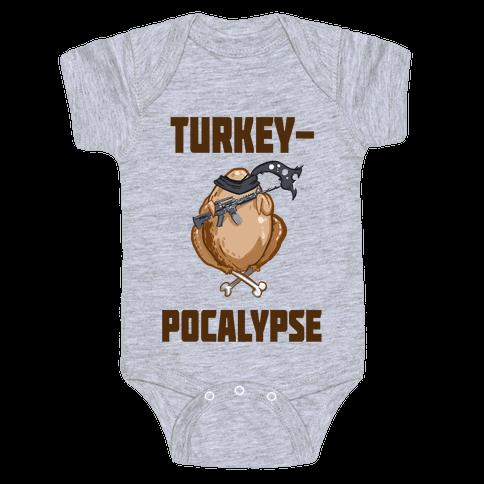 TurkeyPocalypse (dark) Baby Onesy