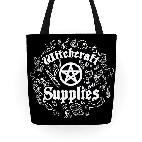 Witchcraft Supplies with Pentagrams, Crystals & Feathers