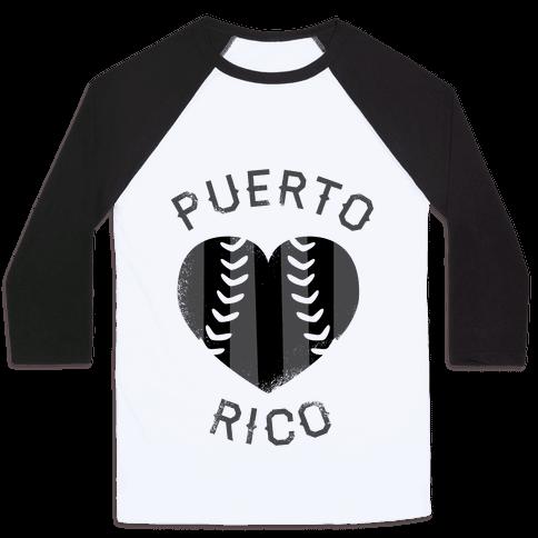 Puerto Rico Baseball Love (Baseball Tee)