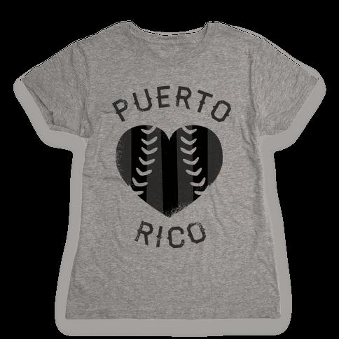 Puerto Rico Baseball Love (Baseball Tee) Womens T-Shirt 58731133e2