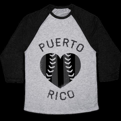 Puerto Rico Baseball Love (Baseball Tee) Baseball Tee