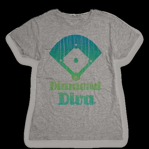 Diamond Diva Womens T-Shirt