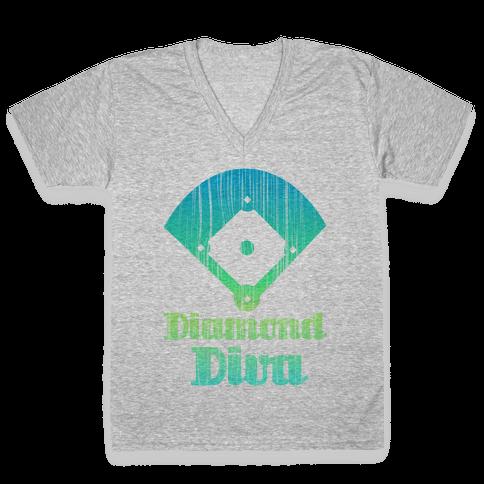 Diamond Diva V-Neck Tee Shirt