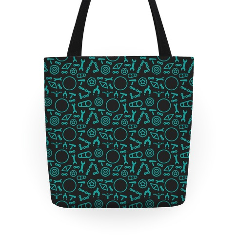 Bike Parts Pattern Tote