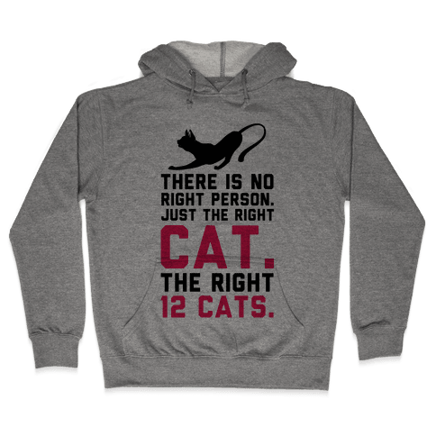 There is No Right Person. Just the Right Cat. Hooded Sweatshirt