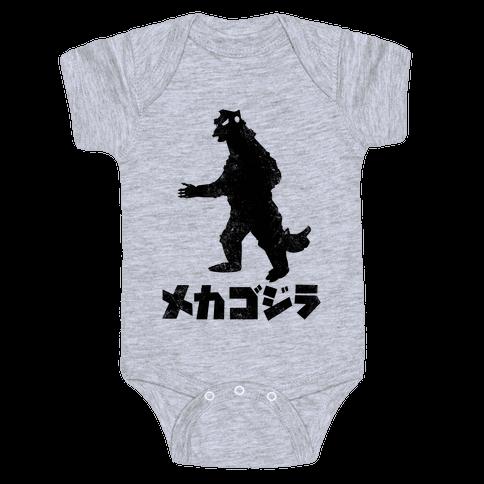 Mecha Godzilla (Vintage) Baby Onesy