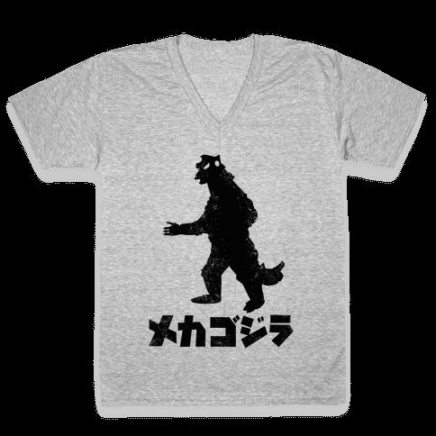 Mecha Godzilla (Vintage) V-Neck Tee Shirt