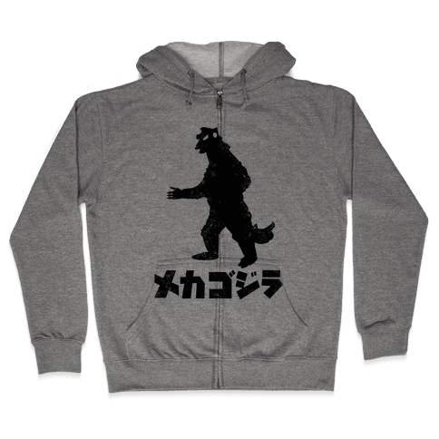 Mecha Godzilla (Vintage) Zip Hoodie