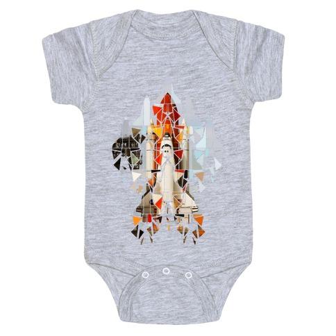 Geometric Space Shuttle Launch Baby Onesy