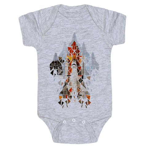 Geometric Space Shuttle Launch Baby Onesy