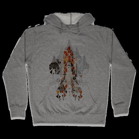 Geometric Space Shuttle Launch Hooded Sweatshirt