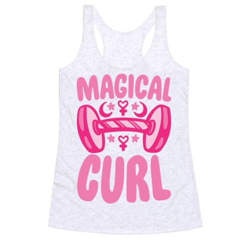 Magical Curl Parody Racerback Tank Top