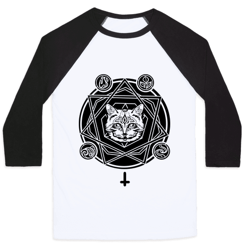 Witch's Cat: The Elements Baseball Tee