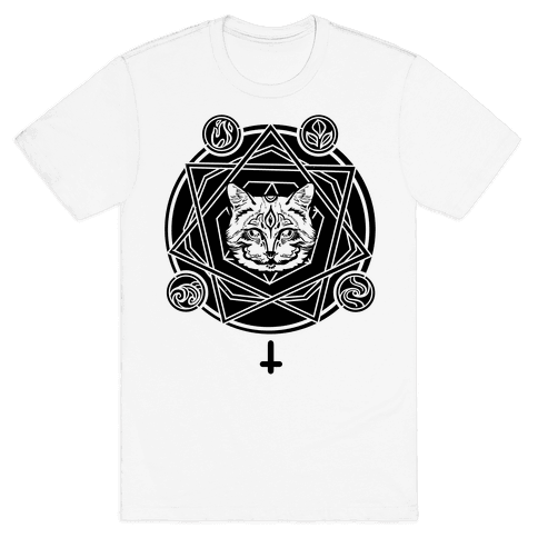 Witch's Cat: The Elements Mens T-Shirt