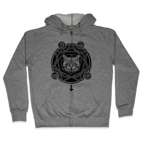 Witch's Cat: The Elements Zip Hoodie