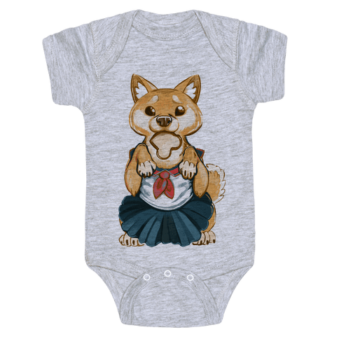 Shiba Inu is Late for Anime School Baby Onesy