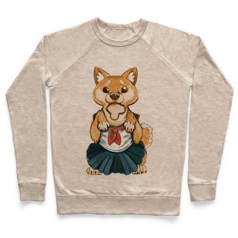 Shiba Inu is Late for Anime School Pullover
