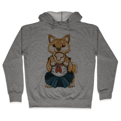 Shiba Inu is Late for Anime School Hooded Sweatshirt
