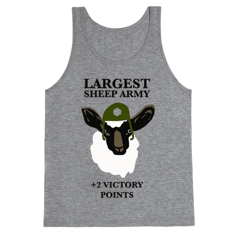 Largest Sheep Army Tank Top