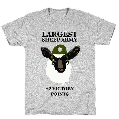 Largest Sheep Army Mens T-Shirt
