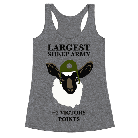 Largest Sheep Army Racerback Tank Top