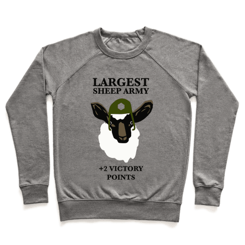 Largest Sheep Army Pullover