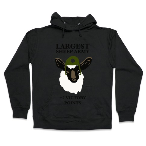 Largest Sheep Army Hooded Sweatshirt