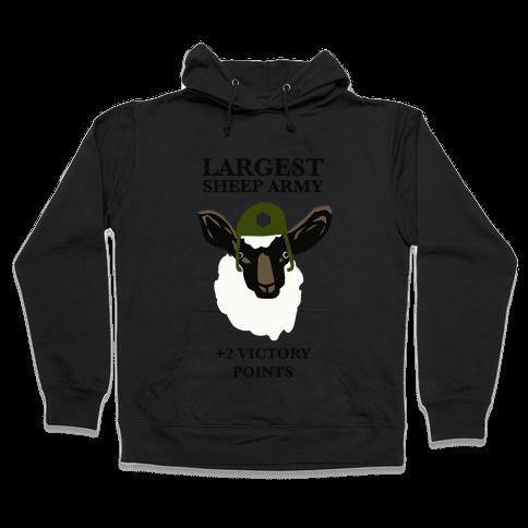 Largest Sheep Army Hooded Sweatshirt