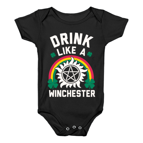 Drink Like A Winchester (St. Patrick's Day) Baby Onesy