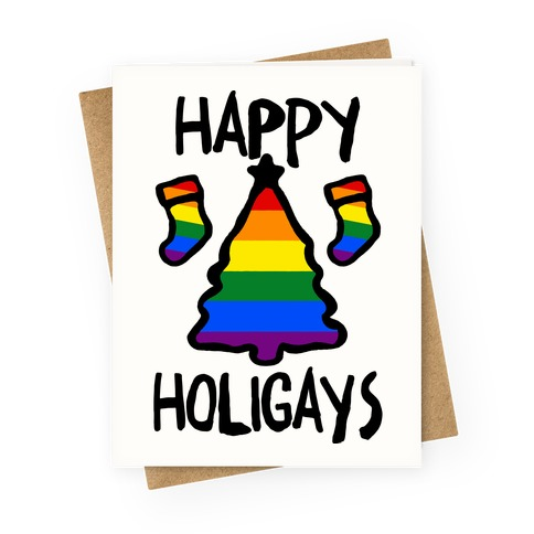 Happy Holigays Greeting Card