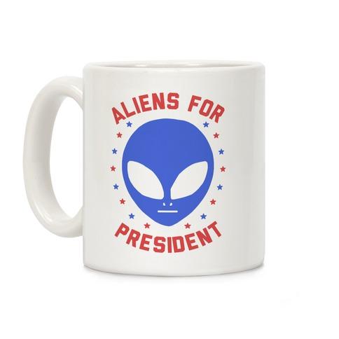 Aliens For President Coffee Mug
