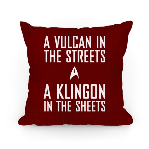 A Vulcan In the Streets (Red) Pillow