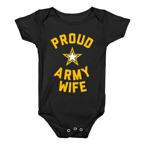 Proud Army Wife Baby Onesy
