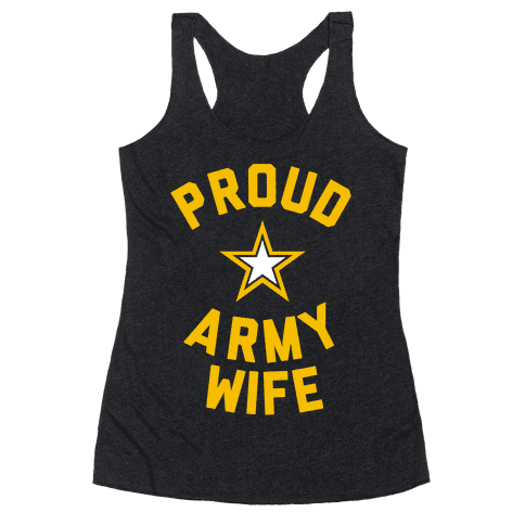 Proud Army Wife Racerback Tank Top