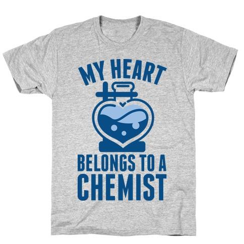 My Heart Belongs to a Chemist Mens T-Shirt