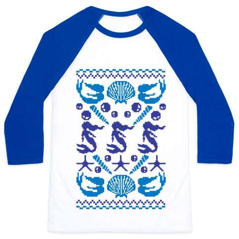 Ugly Mermaid Sweater Baseball Tee